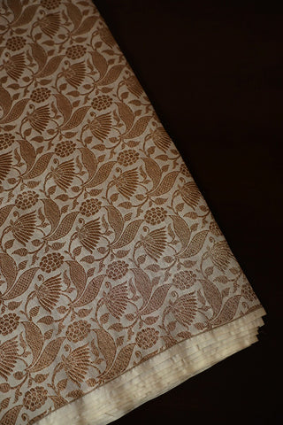 Off White Brocade Fabric