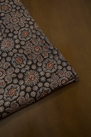 Indigo Paisley Ajrak Cotton Fabric