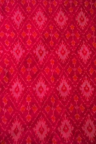 Rani Pink Raw Silk Ikat Fabric