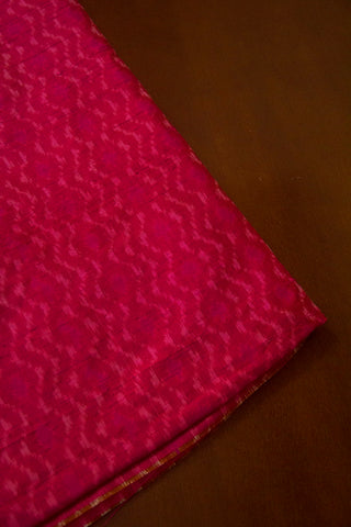 Double Shaded Pink Raw Silk Ikat Fabric