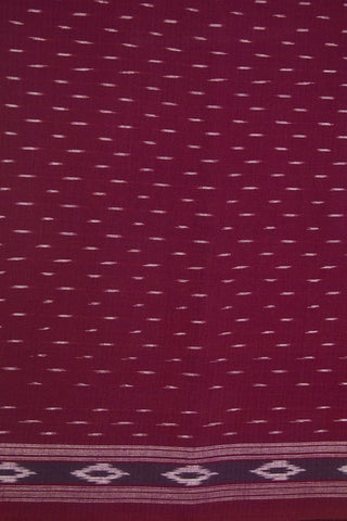 Magenta Handwoven Ikat Cotton Fabric - 0.8m
