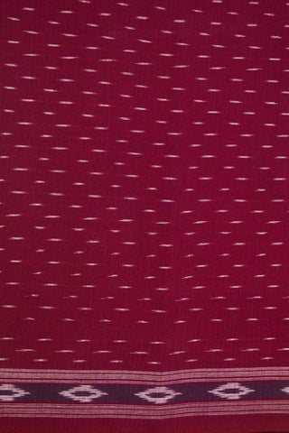 Magenta Handwoven Ikat Cotton Fabric