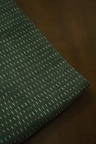 Subdued Green Handwoven Ikat Cotton Fabric-0.5 m