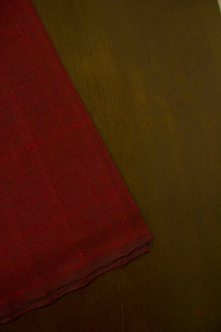 Double shade maroon handwoven cotton