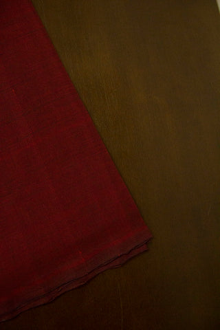 Dark Maroon Handwoven Mangalagiri Cotton Fabric