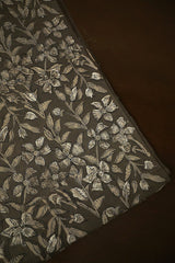 Grey Bagru Block Printed Fabric