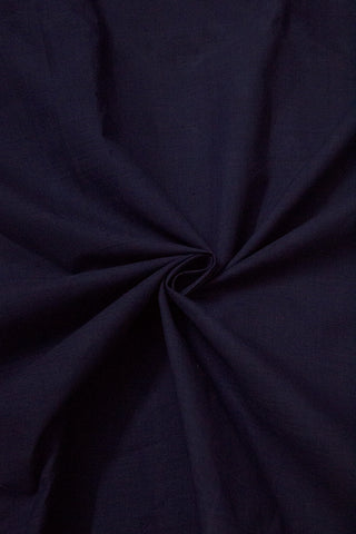 Dark Blue Handwoven Mangalagiri Cotton Fabric