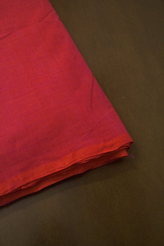 Double Shaded Purplish Orange Handwoven Mangalagiri Cotton Fabric-0.9m