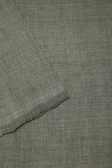 Cement Grey Handwoven Mangalagiri Cotton Fabric-1.4m
