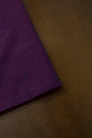 Dark Lavender Handwoven Mangalagiri Cotton Fabric-1.6