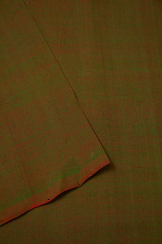 Double Shade Green Mangalagiri Cotton Fabric