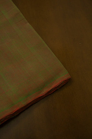 Pink with Green Double Shaded Handwoven Mangalagiri Cotton Fabric-2 m