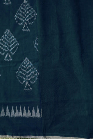 Leaf Design Pochampally Ikat Cotton Saree