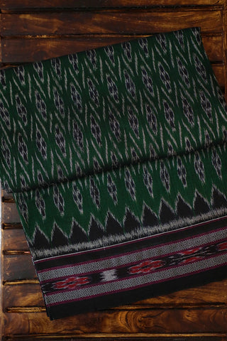 Dark Green Handwoven Orissa Ikat Saree