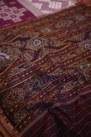 Shades of Purple Handwoven Orissa Ikat Saree