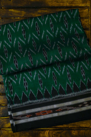 Green with Black Handwoven Orissa Ikat Saree
