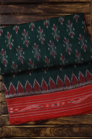 Blackish Green Handwoven Orissa Ikat Saree
