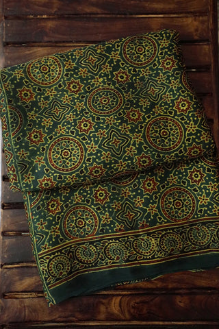 Green with Circles Modal Silk Saree