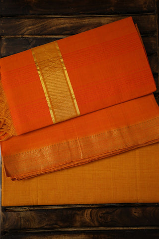 Orange and Yellow Mangalagiri Full Suit