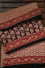 Small Floral Bagru Print Cotton Full Suit with Kota Doria Dupatta