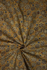 Flower Circles - Block Printed Kalamkari Fabric