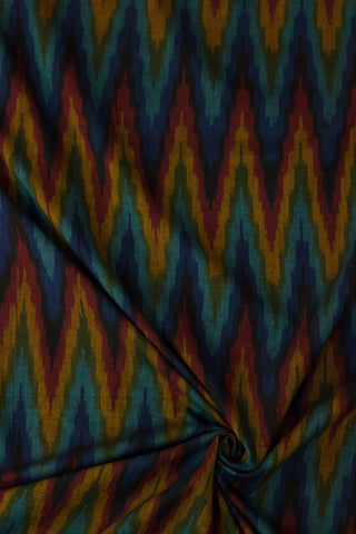 Zigzags in colour - Handwoven Ikat Fabric