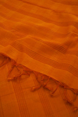 Double Shaded Orangish Brown Missing Weaves Handwoven Cotton Dupatta