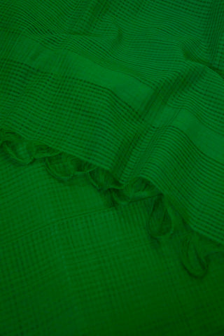 Green Missing checks Handwoven Cotton Dupatta