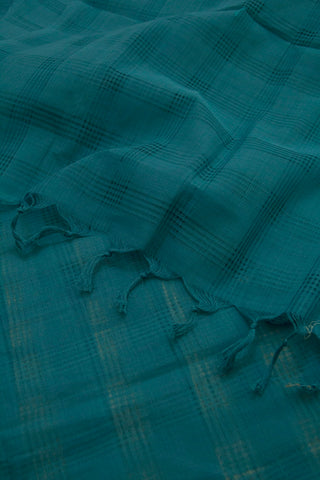 Greyish Blue Missing Weaves Handwoven Cotton Dupatta