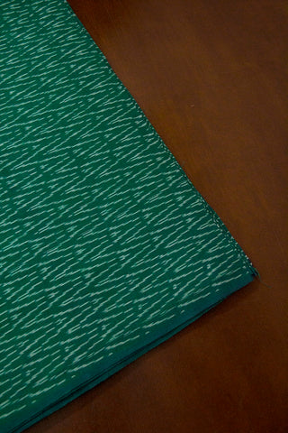 Green Zig Zag  Ikat Cotton Fabric