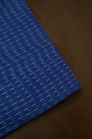 Small Irregular Lines in Blue Ikat Cotton Fabric