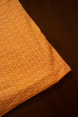 Beige with Off White Ikat Cotton Fabric