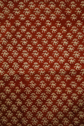 Small Floral Bagru Block Printed Cotton Fabric