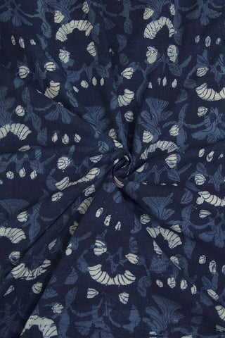 Indigo Blue Hand Block Dabu Print Cotton Fabric