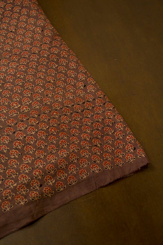 Maroon Small Flower Malai Cotton Fabric