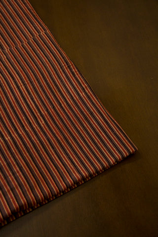 Beige with Maroon Lines Malai Cotton Fabric
