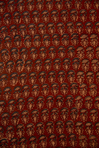 Maroon with Indigo Malai Cotton Fabric-1.4 m