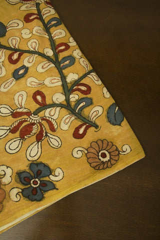 Flower Bunch Painted Kalamkari Cotton Fabric