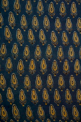 Faded Indigo Malai Cotton Fabric