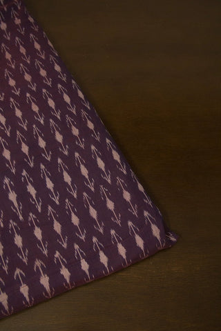 Double Shaded Purple Mercerized Cotton Ikat Fabric -0.5m