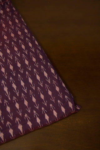 Double Shaded Purple Mercerized Cotton Ikat Fabric
