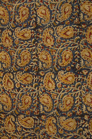 Fenugreek Paisley Printed Kalamkari Fabric