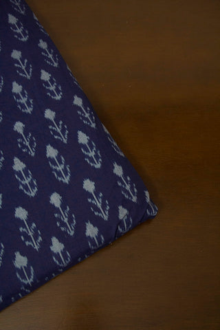 Indigo Arrows Natural Dyed Ikat Cotton Fabric