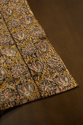 Flower Floral Printed Kalamkari Fabric