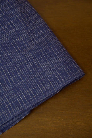 Indigo Irregular Lines Natural Dyed Ikat Cotton Fabric-1.6 m