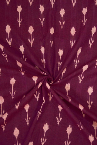 Arrows in Dark Purple Ikat Cotton Fabric - 2.2m