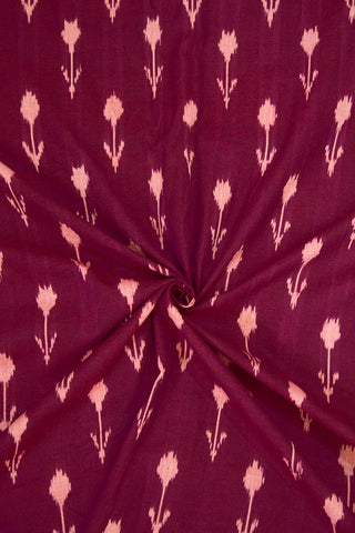 Arrows in Dark Purple Ikat Cotton Fabric