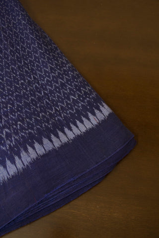 Blue with Red Temple Border Ikat Fabric