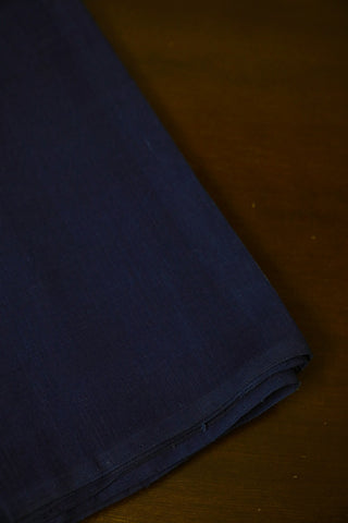 Indigo Blue Natural Dyed Textured Khadi Fabric-0.5 m