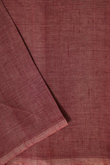 Double Shade Maroon Natural Dyed Textured Khadi Fabric